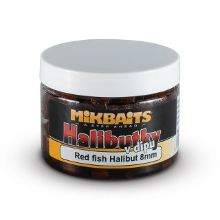 Halibutky v dipu 150ml - Red fish Halibut 8mm
